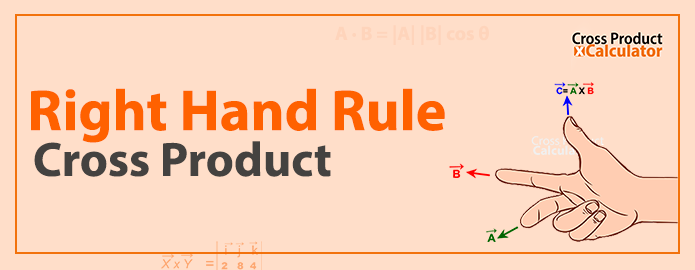 Right hand rule for cross product